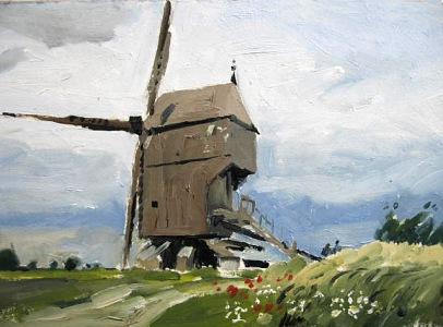 Valmy windmill, near Sainte Menehould, France