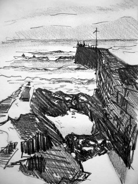 The Breakwater at Porthleven, Cornwall