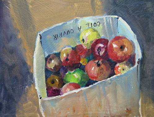 "Box of apples 3""x5"""
