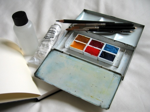 Watercolour and guache kit