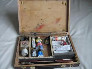 Inside pochade box