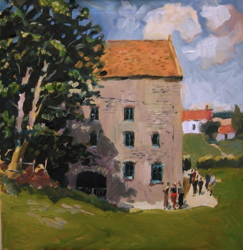 "Priston mill. 14""x14"" oil"