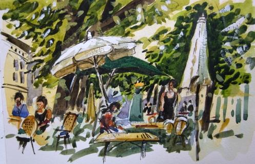 "Watercolour and gouache 5""x8"" Moleskine"