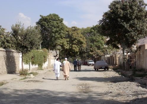 Residential street in Kabul